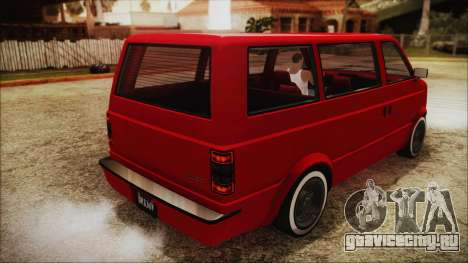 GTA 5 Declasse Moonbeam No Interior IVF для GTA San Andreas вид слева