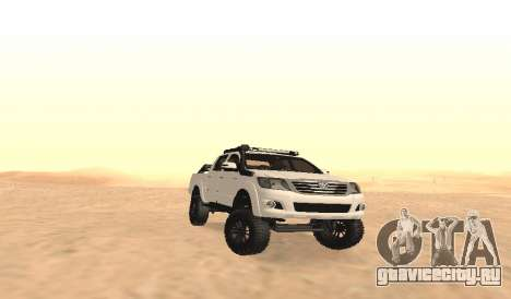 Toyota Hilux 4WD 2015 Rustica для GTA San Andreas вид изнутри