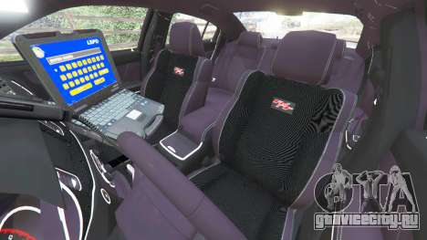 Dodge Charger 2015 LSPD для GTA 5 вид справа