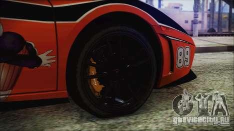 Lamborginhi Gallardo LP-570 Spyder HxH Neferpito для GTA San Andreas вид сзади слева