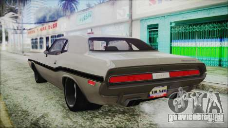 Dodge Challenger RT для GTA San Andreas вид слева