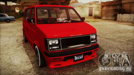 GTA 5 Declasse Moonbeam No Interior IVF для GTA San Andreas вид сзади слева