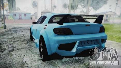 Mazda RX-8 Reventon Itasha Vocaloid Miku для GTA San Andreas вид слева