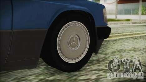 Mercedes-Benz 190E для GTA San Andreas вид сзади слева