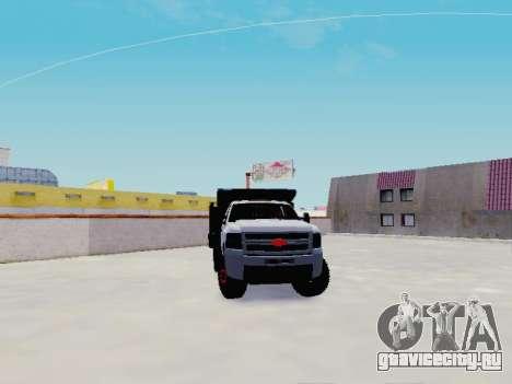 Chevrolet Silverado 3500 HD для GTA San Andreas вид сзади