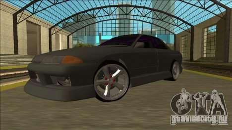 Nissan Skyline R32 Drift Sedan для GTA San Andreas вид сзади