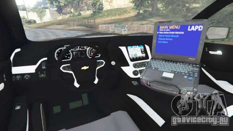 Chevrolet Suburban Police Unmarked 2015 для GTA 5