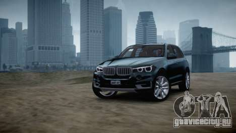 BMW X5 2015 для GTA 4 вид сзади слева