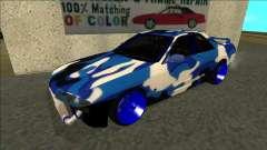 Nissan Skyline R32 Drift синий для GTA San Andreas