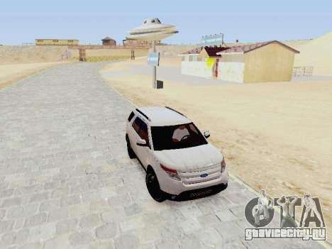 Ford Explorer 2013 Semi-Tuning для GTA San Andreas вид сзади