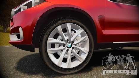BMW X5 2014 для GTA 4 вид изнутри