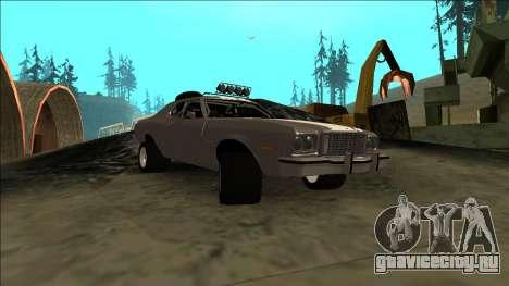 Ford Gran Torino Rusty Rebel для GTA San Andreas вид сзади