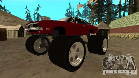 Dodge Charger 1969 Monster Edition для GTA San Andreas вид слева