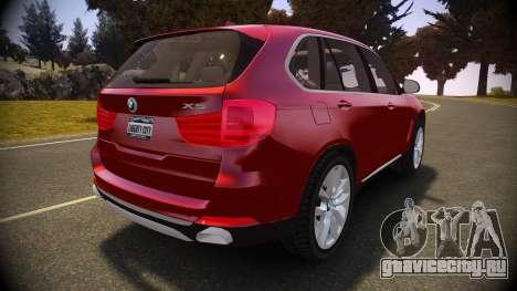 BMW X5 2014 для GTA 4 вид сзади слева