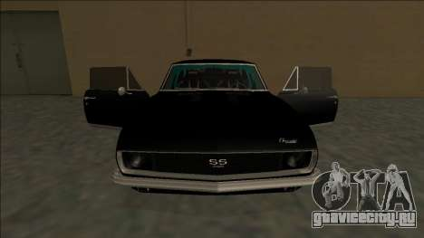 Chevrolet Camaro SS Drift для GTA San Andreas салон