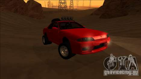 Nissan Skyline R32 Rusty Rebel для GTA San Andreas вид сзади