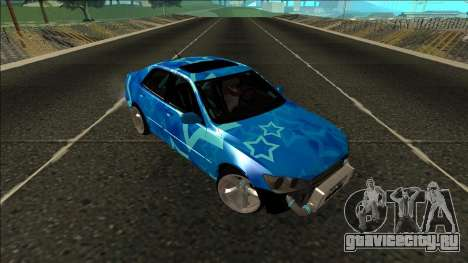 Lexus IS300 Drift Blue Star для GTA San Andreas вид изнутри