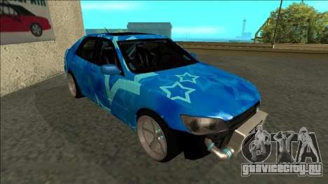 Lexus IS300 Drift Blue Star для GTA San Andreas вид слева