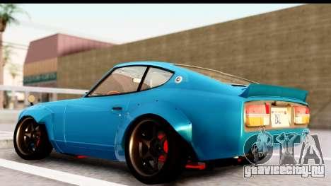 Nissan Fairlady 240Z Rocket Bunny для GTA San Andreas вид сзади слева