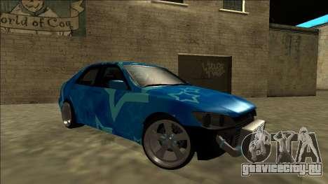 Lexus IS300 Drift Blue Star для GTA San Andreas салон