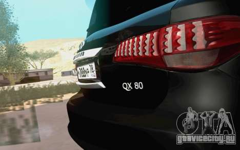 Infiniti QX80 для GTA San Andreas вид справа