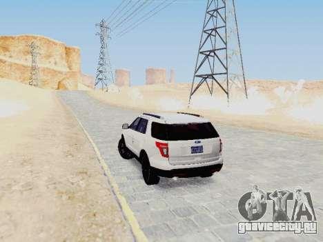 Ford Explorer 2013 Semi-Tuning для GTA San Andreas вид справа