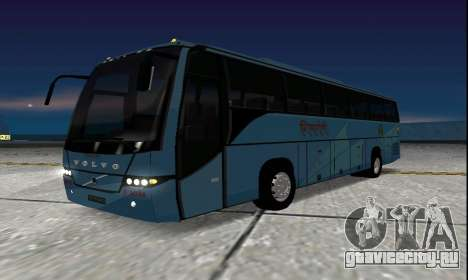 Volvo 9700 JR Indian MSRTC Shivneri для GTA San Andreas вид сзади слева