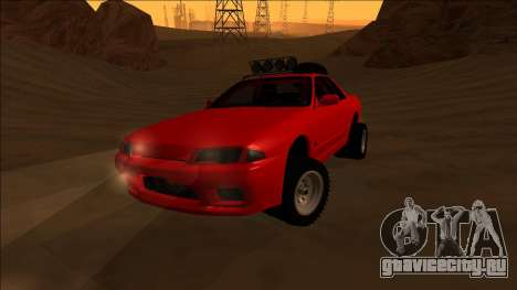 Nissan Skyline R32 Rusty Rebel для GTA San Andreas вид изнутри