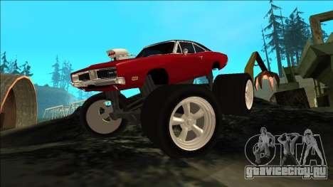 Dodge Charger 1969 Monster Edition для GTA San Andreas вид сзади