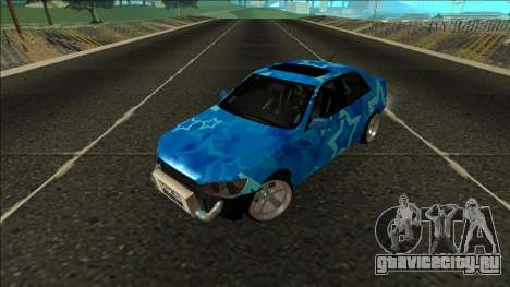 Lexus IS300 Drift Blue Star для GTA San Andreas вид сзади