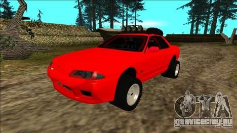 Nissan Skyline R32 Rusty Rebel для GTA San Andreas вид снизу