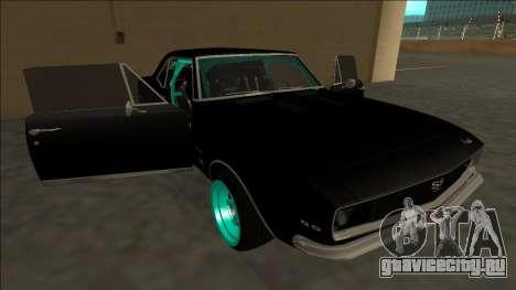 Chevrolet Camaro SS Drift для GTA San Andreas двигатель