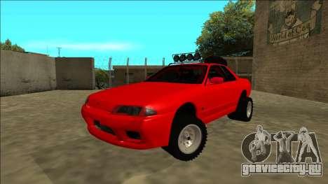 Nissan Skyline R32 Rusty Rebel для GTA San Andreas вид сзади слева
