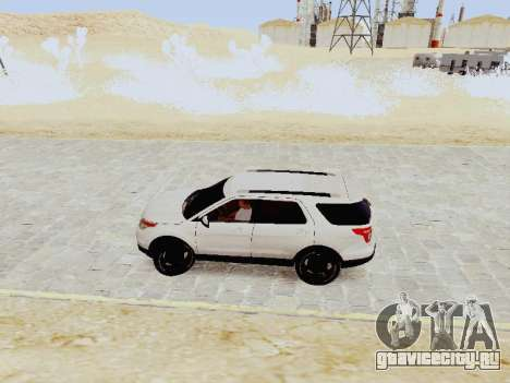 Ford Explorer 2013 Semi-Tuning для GTA San Andreas вид слева