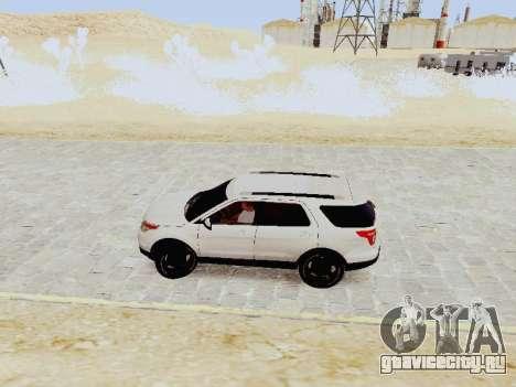 Ford Explorer 2013 Semi-Tuning для GTA San Andreas вид слева