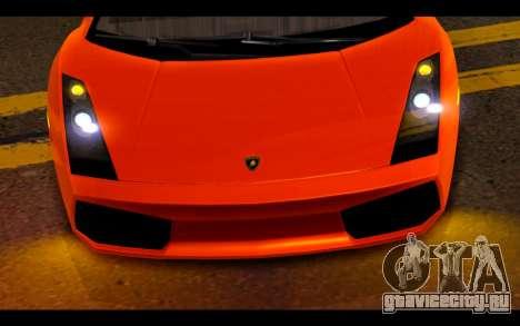 Lamborghini Gallardo для GTA San Andreas вид сбоку