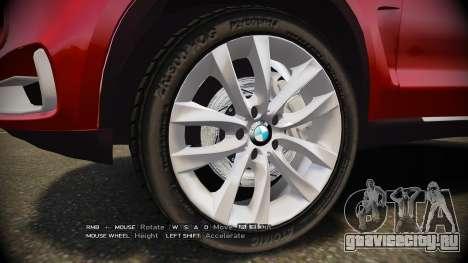 BMW X5 2014 для GTA 4 вид сзади