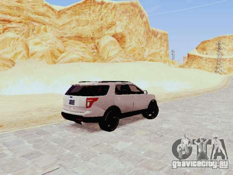 Ford Explorer 2013 Semi-Tuning для GTA San Andreas вид сзади слева