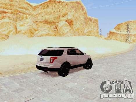 Ford Explorer 2013 Semi-Tuning для GTA San Andreas вид сзади слева
