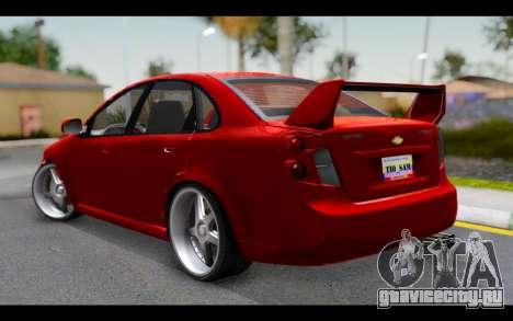Chevrolet Optra 2007 для GTA San Andreas вид слева