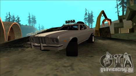 Ford Gran Torino Rusty Rebel для GTA San Andreas вид изнутри