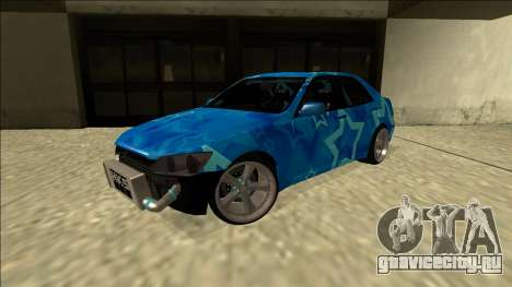 Lexus IS300 Drift Blue Star для GTA San Andreas вид сзади слева