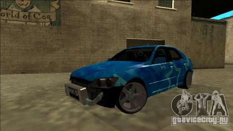 Lexus IS300 Drift Blue Star для GTA San Andreas вид снизу