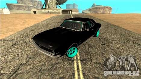 Chevrolet Camaro SS Drift для GTA San Andreas вид сзади слева
