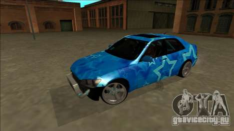 Lexus IS300 Drift Blue Star для GTA San Andreas вид сверху