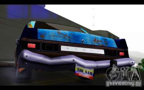 Dodge Dart 1975 v2 Estilo Rusty для GTA San Andreas вид изнутри
