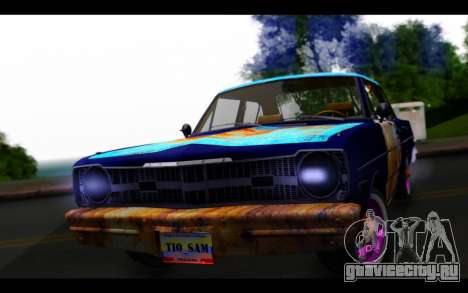 Dodge Dart 1975 v2 Estilo Rusty для GTA San Andreas вид сзади