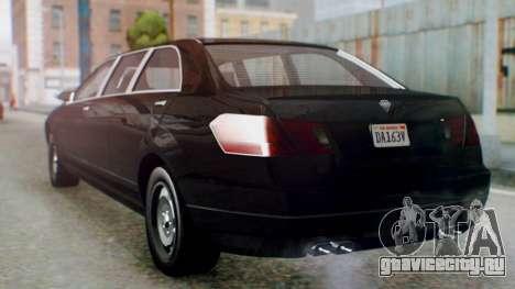 GTA 5 Benefactor Stretch E IVF для GTA San Andreas вид слева