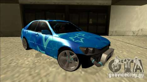 Lexus IS300 Drift Blue Star для GTA San Andreas вид справа