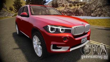 BMW X5 2014 для GTA 4 вид справа